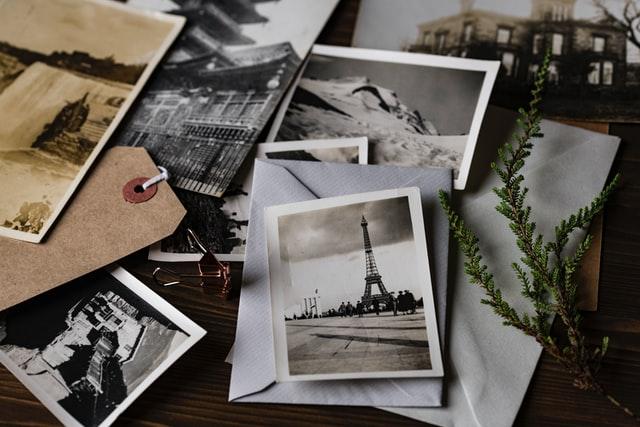Photos sur table
